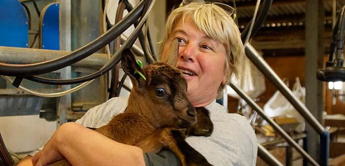 Anita mit Ziege