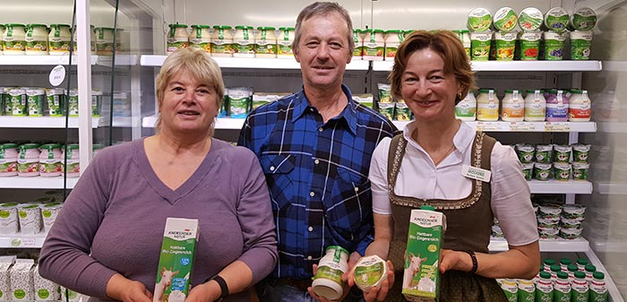 Frau Scheitz mit Anita und Hubert auf der Biofach 2018