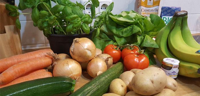 Bio-Einkauf in der Küche