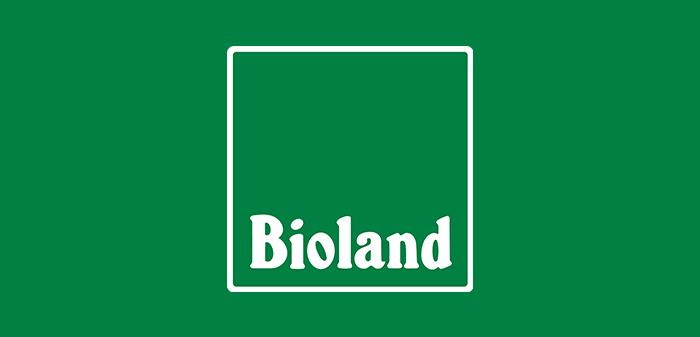 Das Bioland-Logo auf grün
