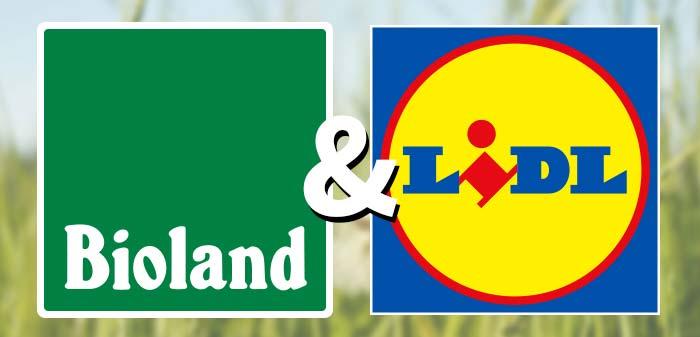Bioland und Lidl als Logos.